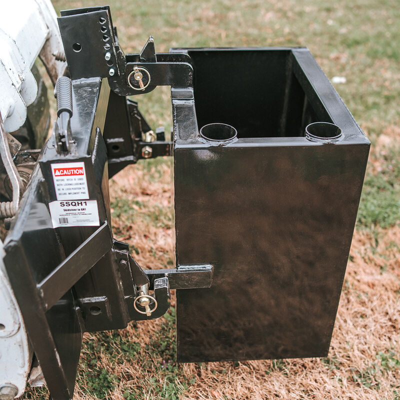 Ballast Box 3 Point Category 1 Tractor Attachment | Quick Hitch Compatible