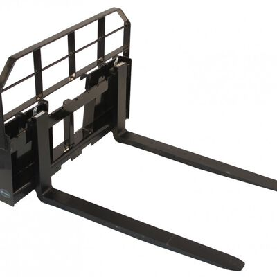 """60"""" Skid Steer HD Pallet Fork Attachment 5500 lb Capacity Quick tach Tractor"""