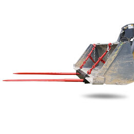 SCRATCH AND DENT - Dual Hay Bale Spear Universal Bucket Attachment - FRAME ONLY - FINAL SALE