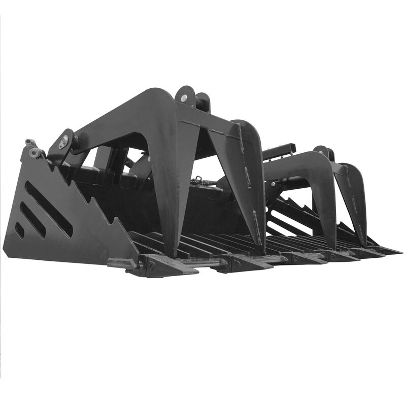 "82"" Rock Bucket Grapple Skeleton Loader w/ Teeth"