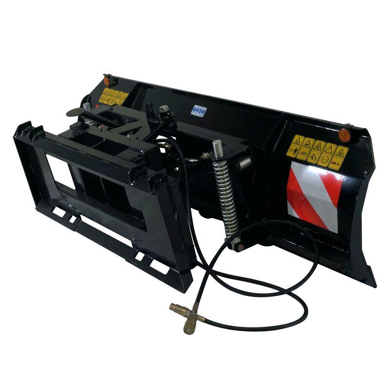 "Hydraulic 79"" Skid Steer Dozer Blade / Snow Pusher"