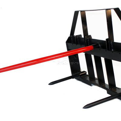 Skid Steer Hay Spear Attachment 3,000 lbs Capacity
