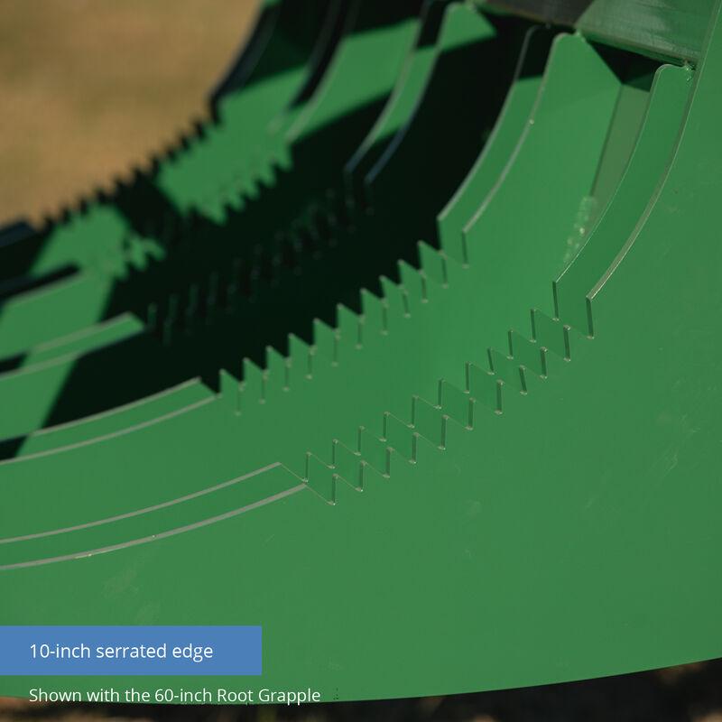 84-in HD Root Grapple Rake Attachment Fits John Deere Loaders