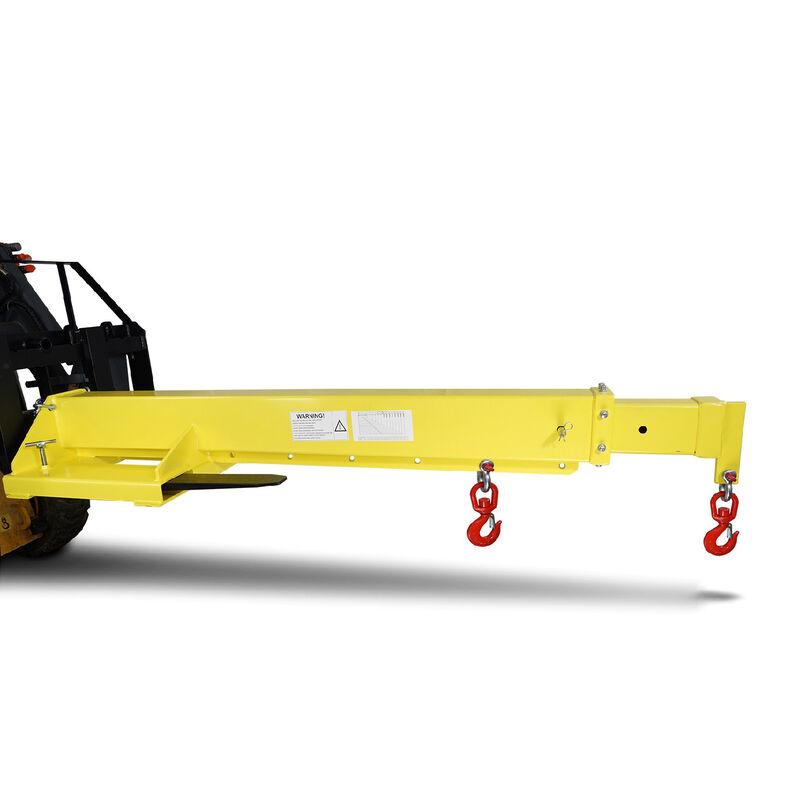 Adjustable Hoist Forklift Jib Boom Crane -  6000 LB Lift Capacity Truss