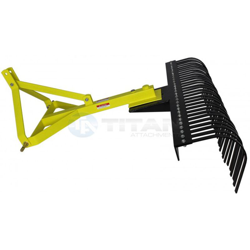 Landscape Rake Three Point Attachment | Optional Wheel Kit