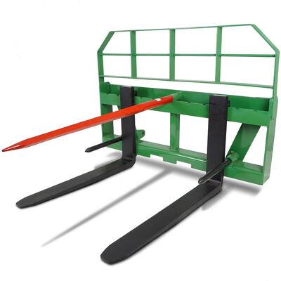 "36"" Pallet Fork Attachment HD 49"" Hay Bale Spear fits John Deere Global Loaders"