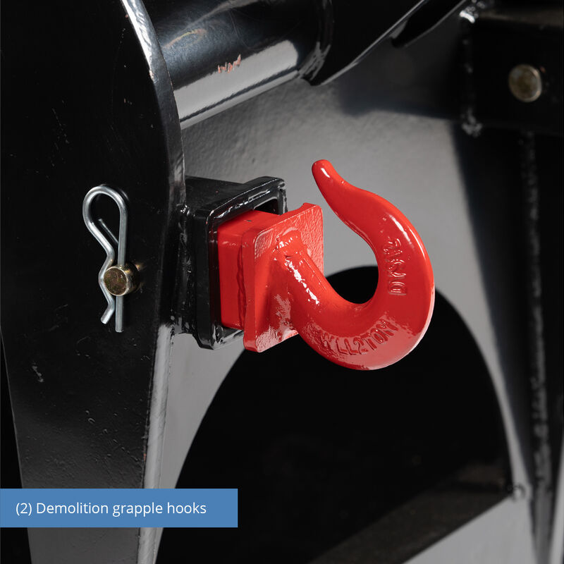 Titan 60-in Demolition Grapple Bucket With Hooks