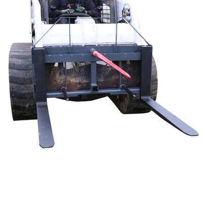 "UA 42"" Pallet Fork Hay Frame Attachment with Spears Rack and Hitch 