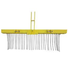 5 FT Pine Straw Needle Rake for Cat 1, 3 Point