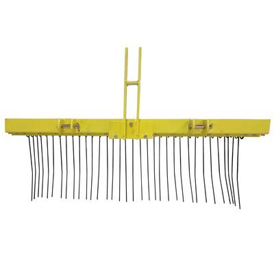 Pine Straw Needle Rake 5 ft for Cat 1, 3 Point