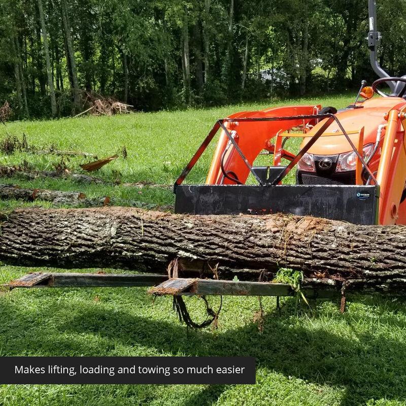 Pallet Fork Attachment with Pallet Fork Blades – Skid Steer Quick Tach