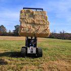 """Titan Skid Steer Hay Frame w/ 49"""" C2 Hay Spears"""