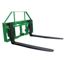 """UA Global 48"""" Pallet Fork Frame Attachment with Headache Rack and Hitch 