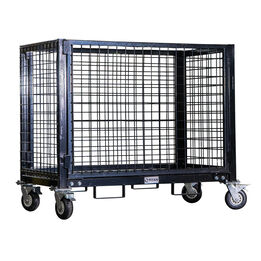 Industrial Wire Crate Cart With Casters   2,500 LB Capacity