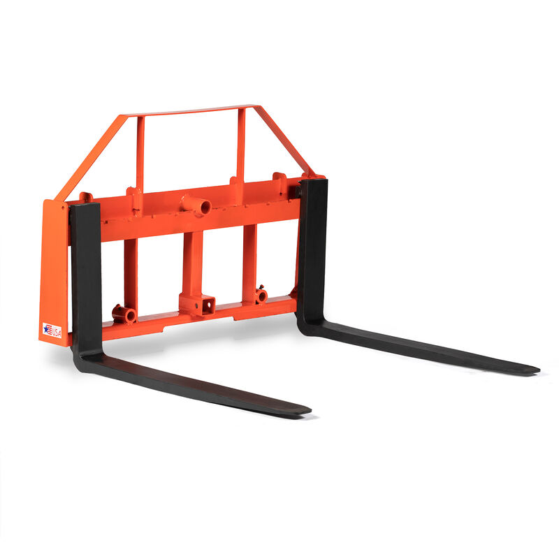 UA Made In The USA Orange Hay Frame Attachment W/ 60-in Pallet Forks