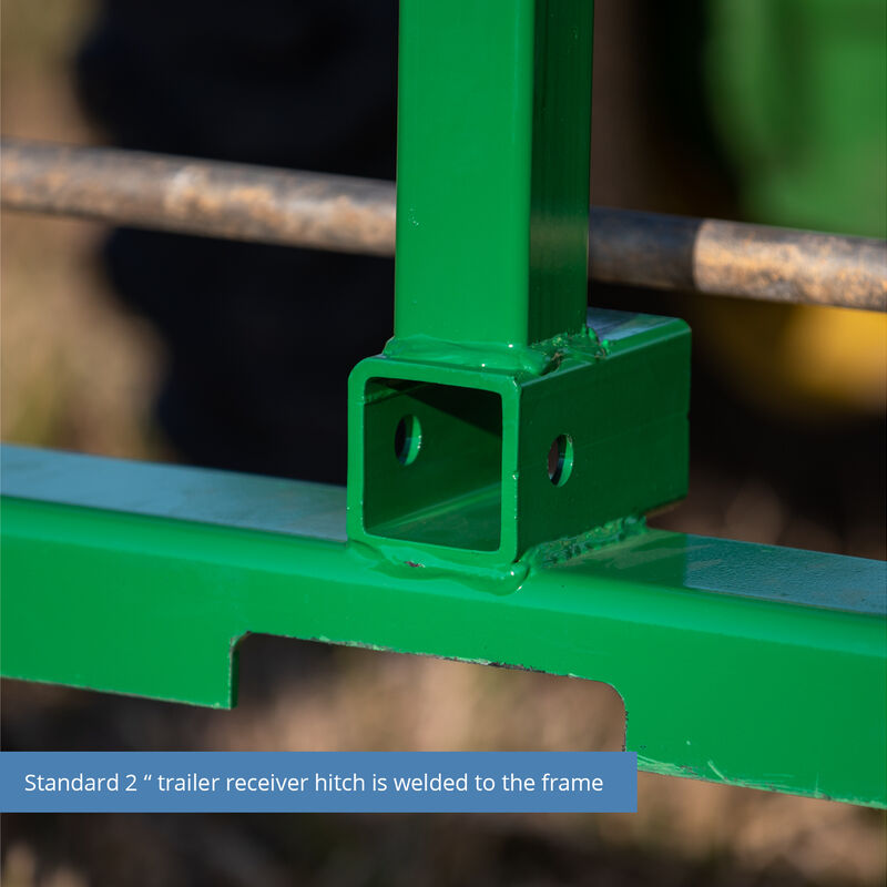 Titan 50-in Pallet Fork Attachment With Receiver Hitch And 48-in Fork Blades Fits John Deere Loader