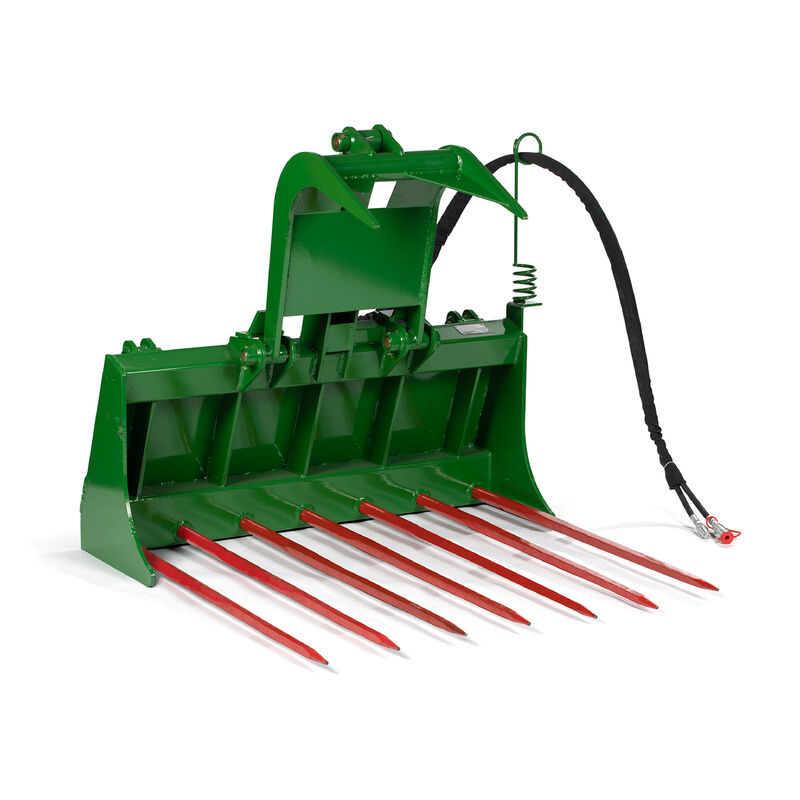 48-in Tine Bucket Attachment with 32-in Hay Bale Spears Fits John Deere Loaders