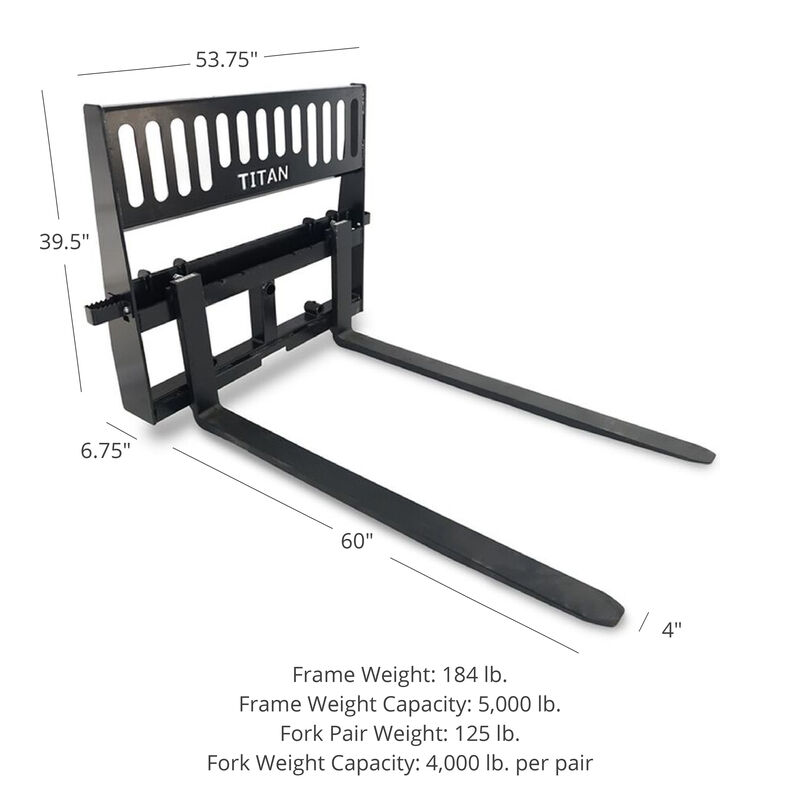 Pro-Duty Pallet Fork Attachment with 60-in Fork Blades