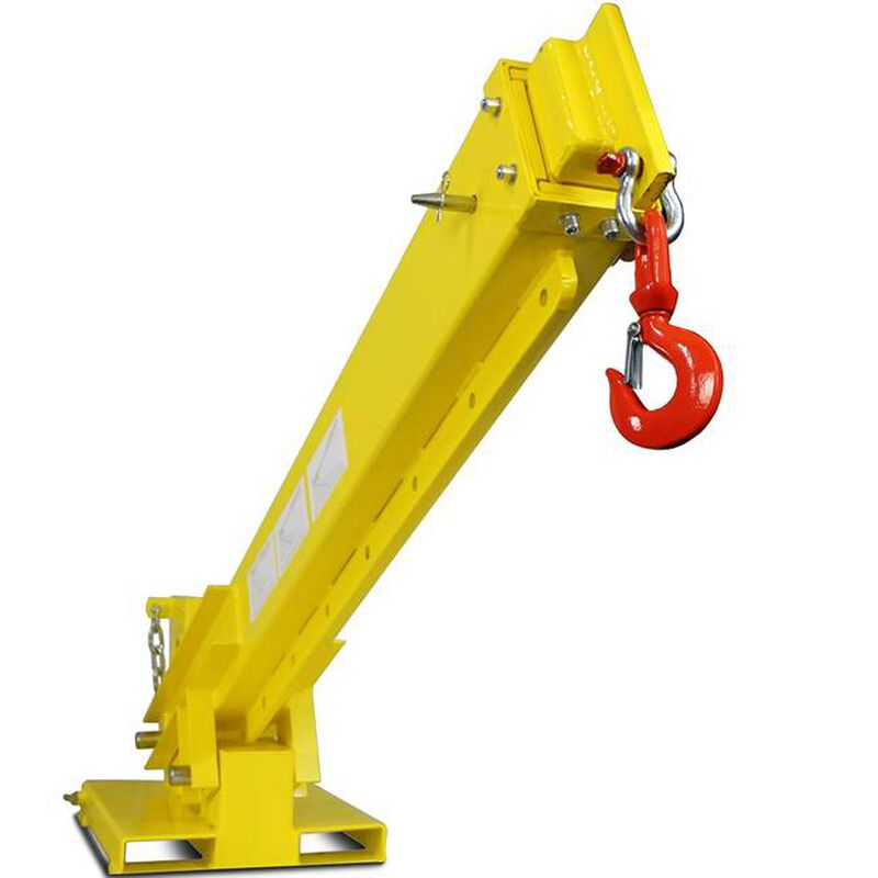 Adjustable Hoist Pivoting Forklift Jib Boom Crane 6000 lb. Lift Capacity