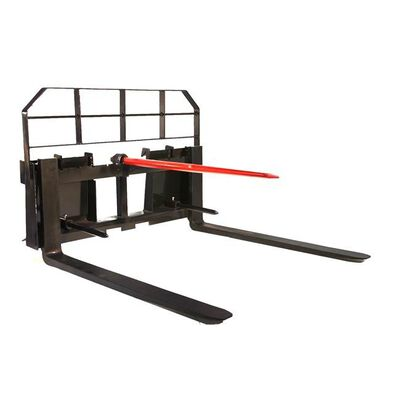 """Titan 48"""" Pallet Fork Hay Bale Spear Attachment 5500 lb Capacity for Skid Steer"""