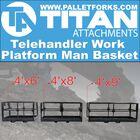 4'x8' Telehandler Work Platform Man Basket