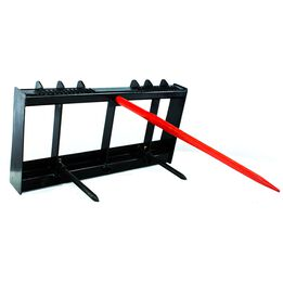 HD Skid Steer Universal Hay Bale Spear Attachment 4,000 lbs Capacity (single spear)