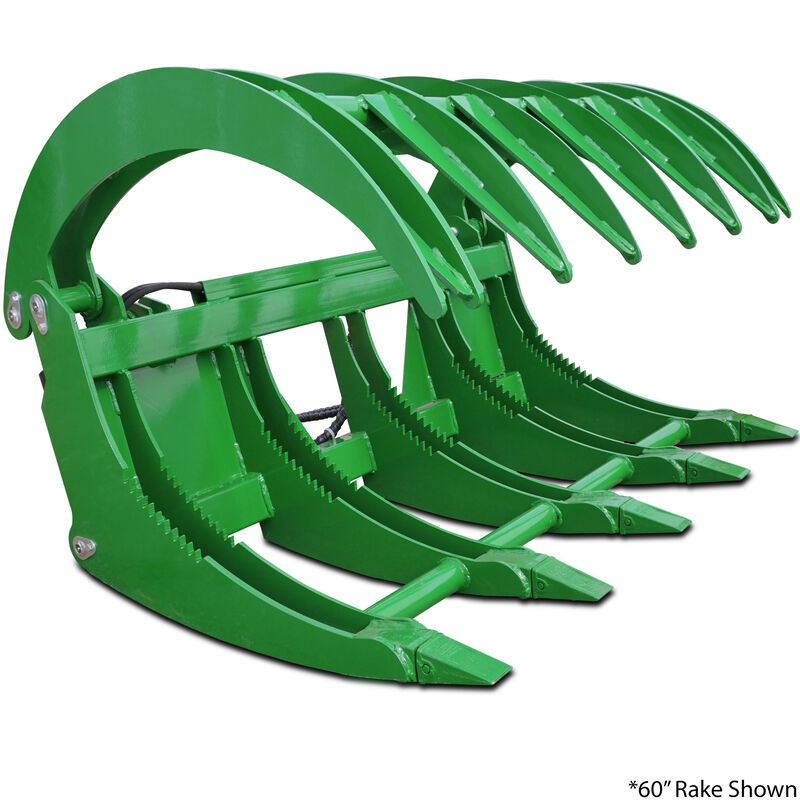 "72""  HD Root Grapple Rake Attachment Fits John Deere Loaders"