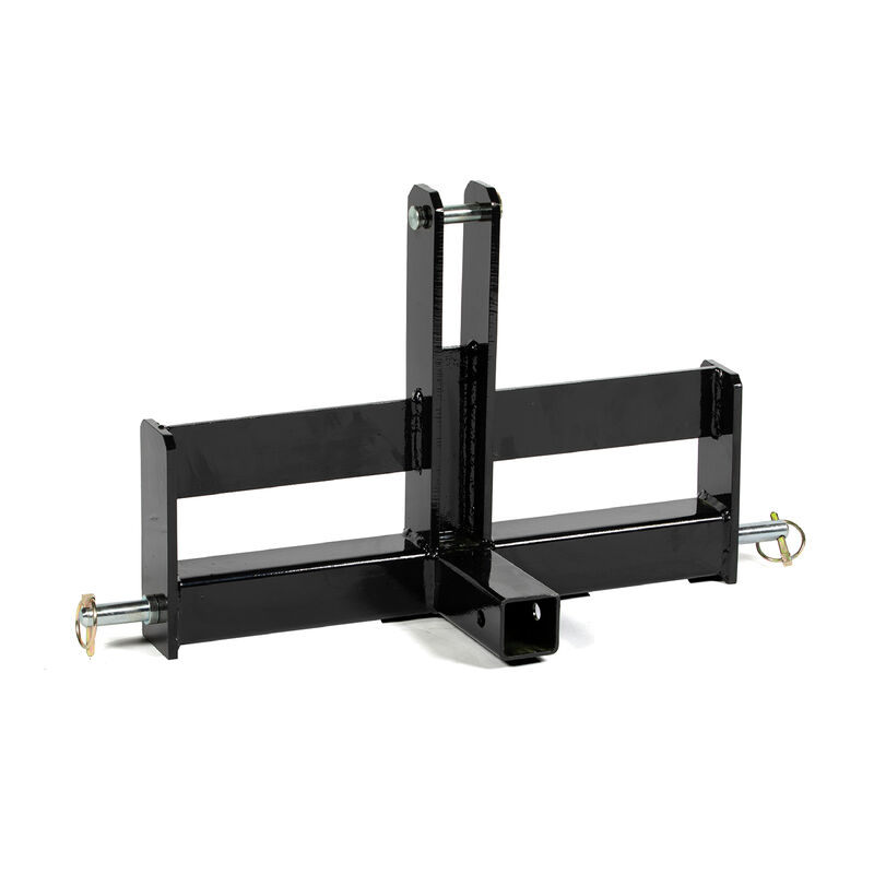 Black Tractor Drawbar With Suitcase Weight Brackets, 2-in Receiver, Cat 1, 3 Point