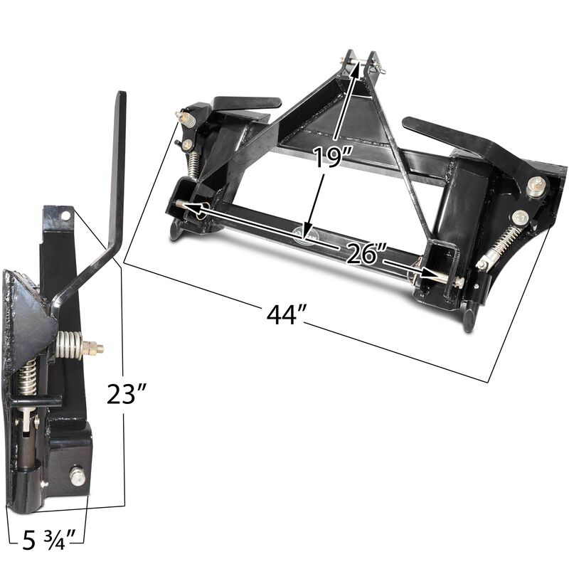 3 Point to Universal Quick Tach Adapter Skid Steer Tractor