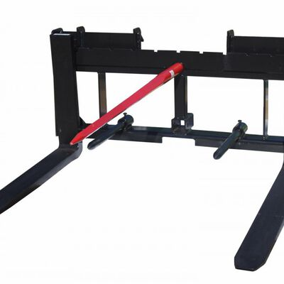 "Skid Steer 36"" Pallet Fork 49"" Hay Bale Spear Trailer Hitch Attachment"