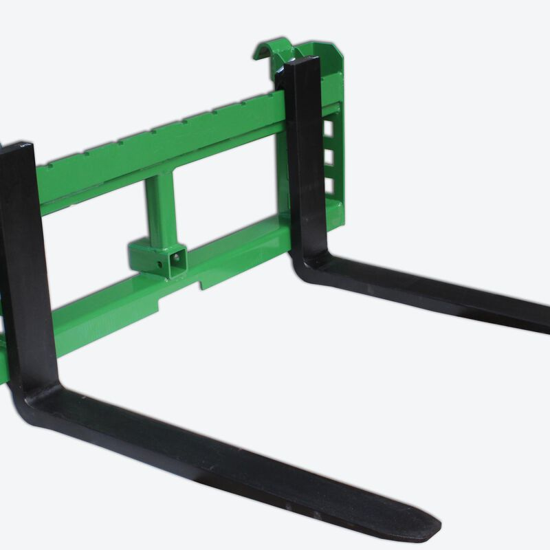 "72"" Grapple bucket & 42"" pallet fork attachment fits John Deere"