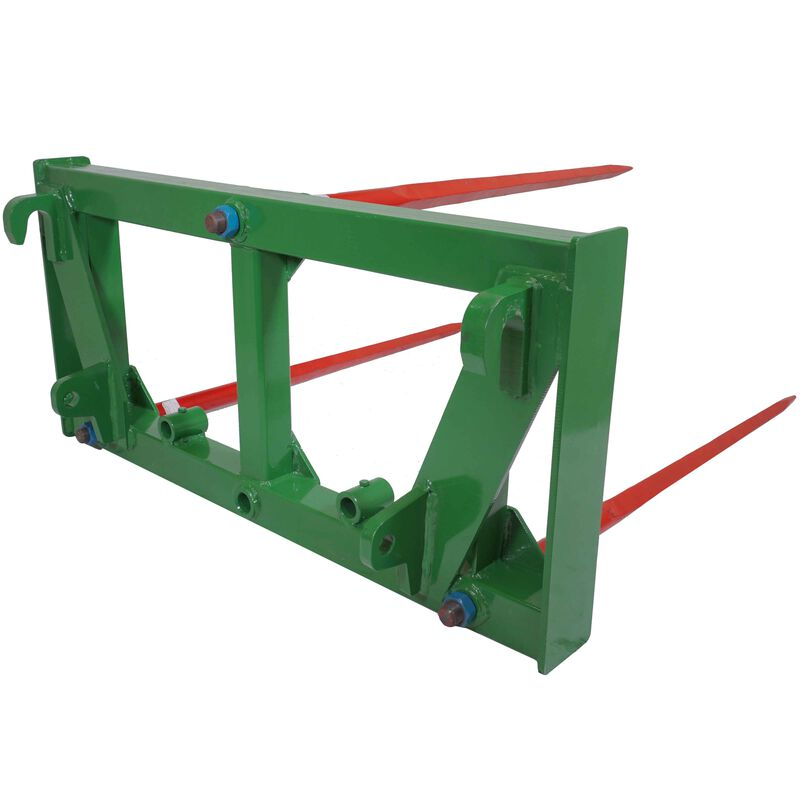 HD Triple Hay Spear Attachment Fits John Deere Global / Euro