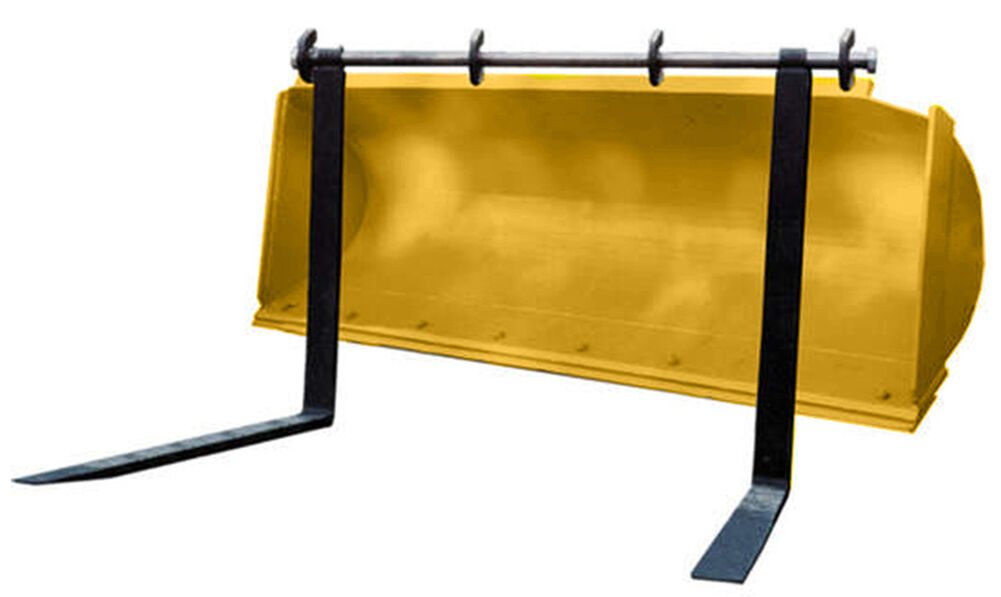 4 Mounting Brackets for Pin Type Over The Bucket Loader Pallet Forks Weld on for sale online