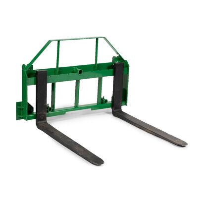 Pallet Fork Frame Attachment With Pallet Fork Blades, Fits John Deere Tractors