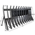 "72"" Root Debris Rake Skid Steer Attachment"