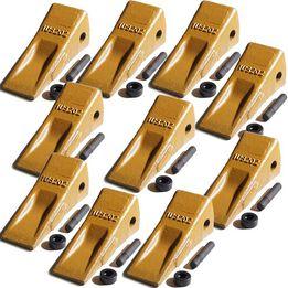 1U3202 Bucket Teeth w/ Side Pin and 8E6208 Retainer (10 Piece)
