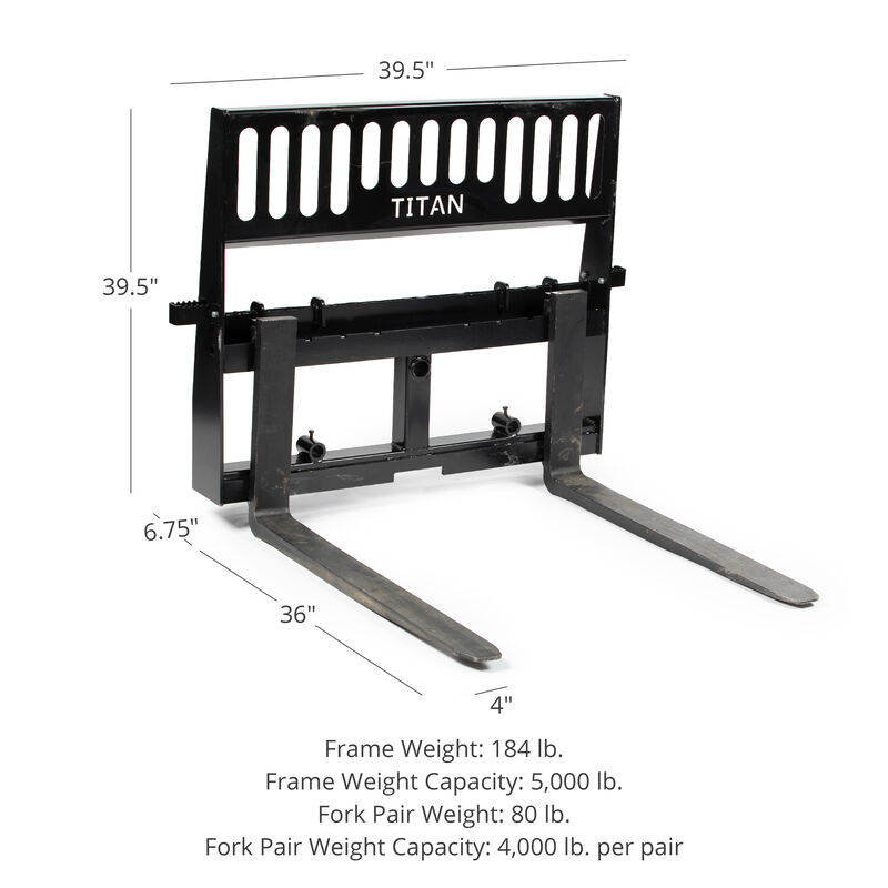 Pro-Duty Pallet Fork Attachment with 36-in Fork Blades