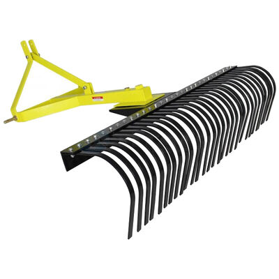 6' Landscape Rake For Category 1, 3 Point | Quick Hitch Compatible