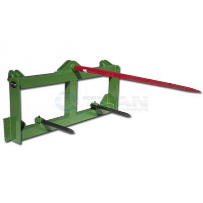 "49"" Hay Spear Attachment w/ Stabilizer Spears fits John Deere"