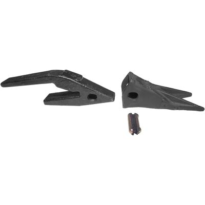 Set of (3) 23WTL Twin Tiger Tooth Bucket Assembly w/ Shank & T23 Flex Pin
