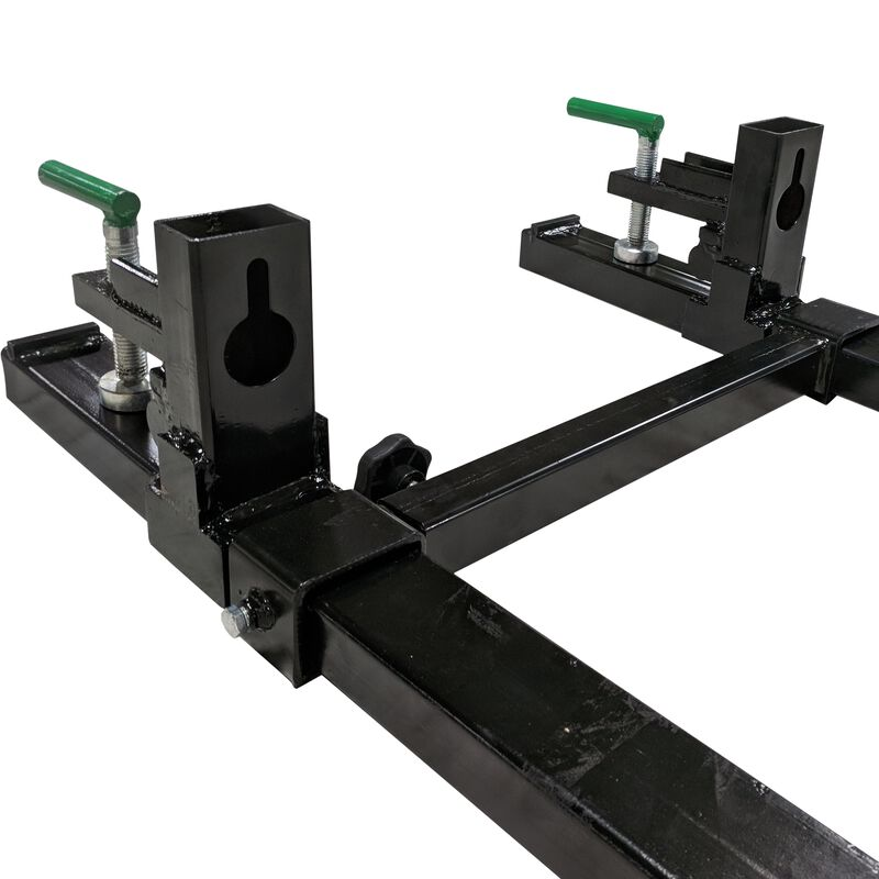 "30"" Clamp on Pallet Fork 1500 lb Capacity w/ Stabilizer Bar"