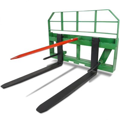 "48"" Pallet Fork Attachment HD 49"" Hay Bale Spear fits John Deere Global Loaders"