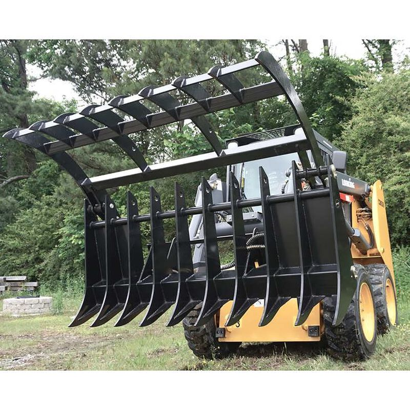 "72"" Root Grapple Rake Attachment for Skid Steer"