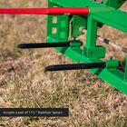 Pallet Fork Frame Attachment with Receiver Hitch, 49-in Hay Spears, and Stabilizers – Fits John Deere Loader