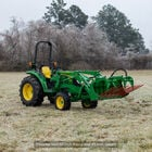 72-in Tine Bucket Attachment with 49-in Hay Bale Spears Fits John Deere Loaders