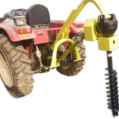 60 HP 3 Point PTO Post Hole Digger Attachment with Auger