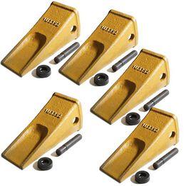 1U3352 Bucket Teeth w/ Side Pin and 8E6358 Retainer (5 Piece)