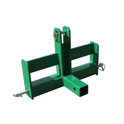 "Green Tractor Drawbar with Suitcase Weight Brackets | 2"" Receiver 