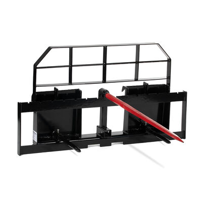 Titan XL Pallet Fork Frame Attachment with Hay Spear and Stabilizers – Quick Tach Tractor