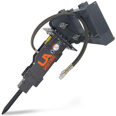 UA-1000 Hydraulic Breaker w/ Skid Steer & Excavator Combo Mount Plate